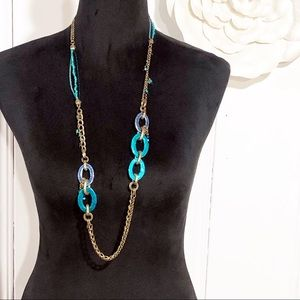 Chico's • Long Mixed Chain Necklace